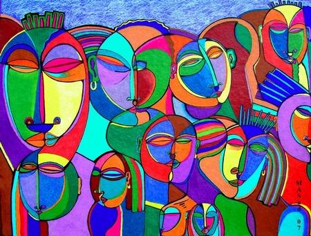 African American Abstract Art New york city art teacher.