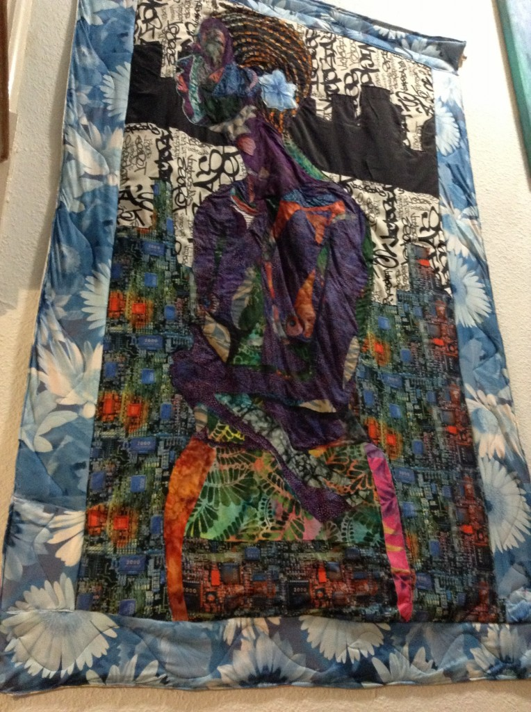 SOLD – Mixed Media on Fabric by Bisa Butler - October Gallery : mixed media quilts - Adamdwight.com