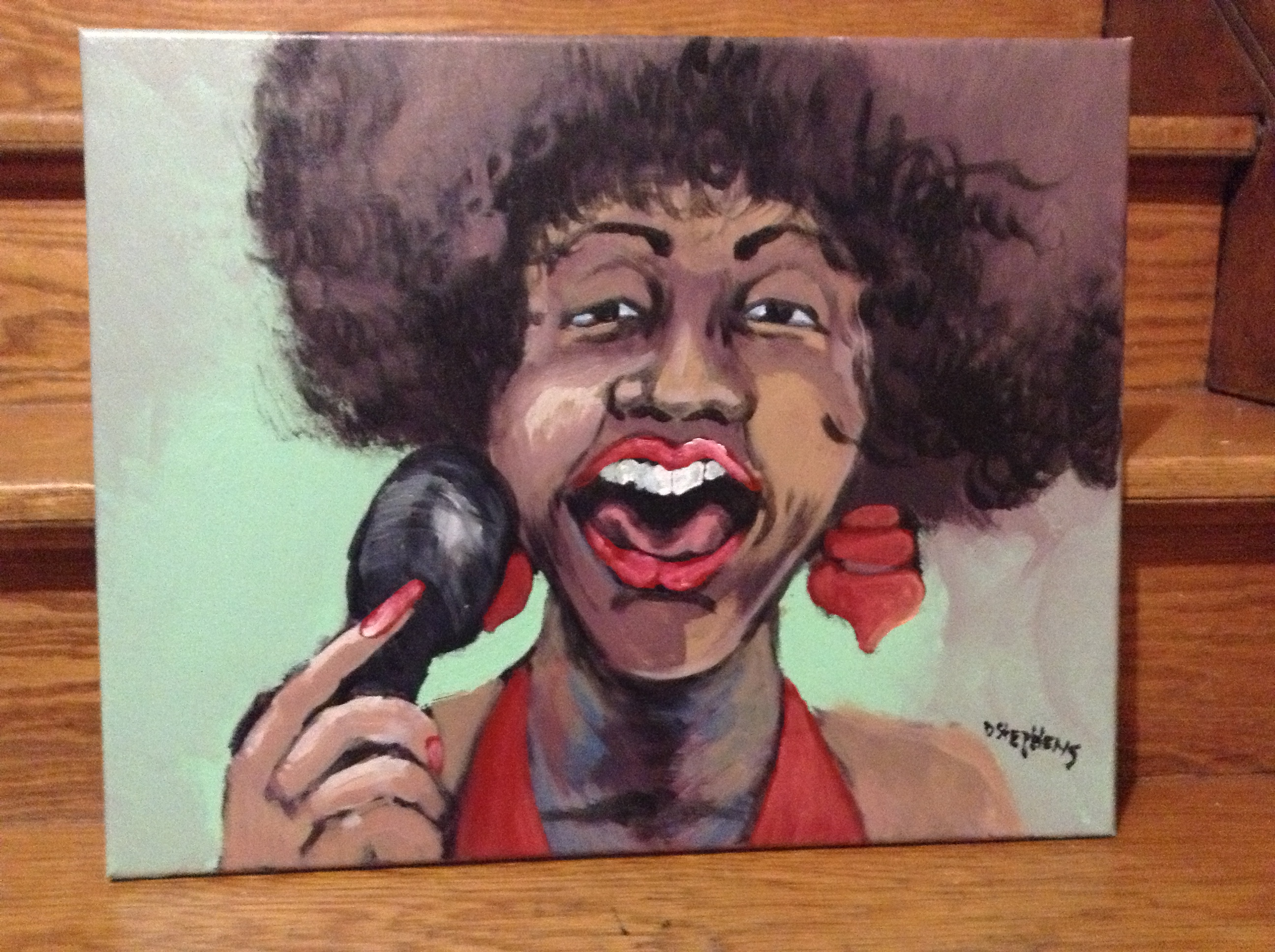 Lady In Red by Don Stephens – ORIGINAL ART