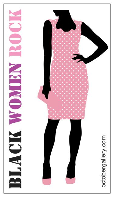 Black Women Rock bus card magnet