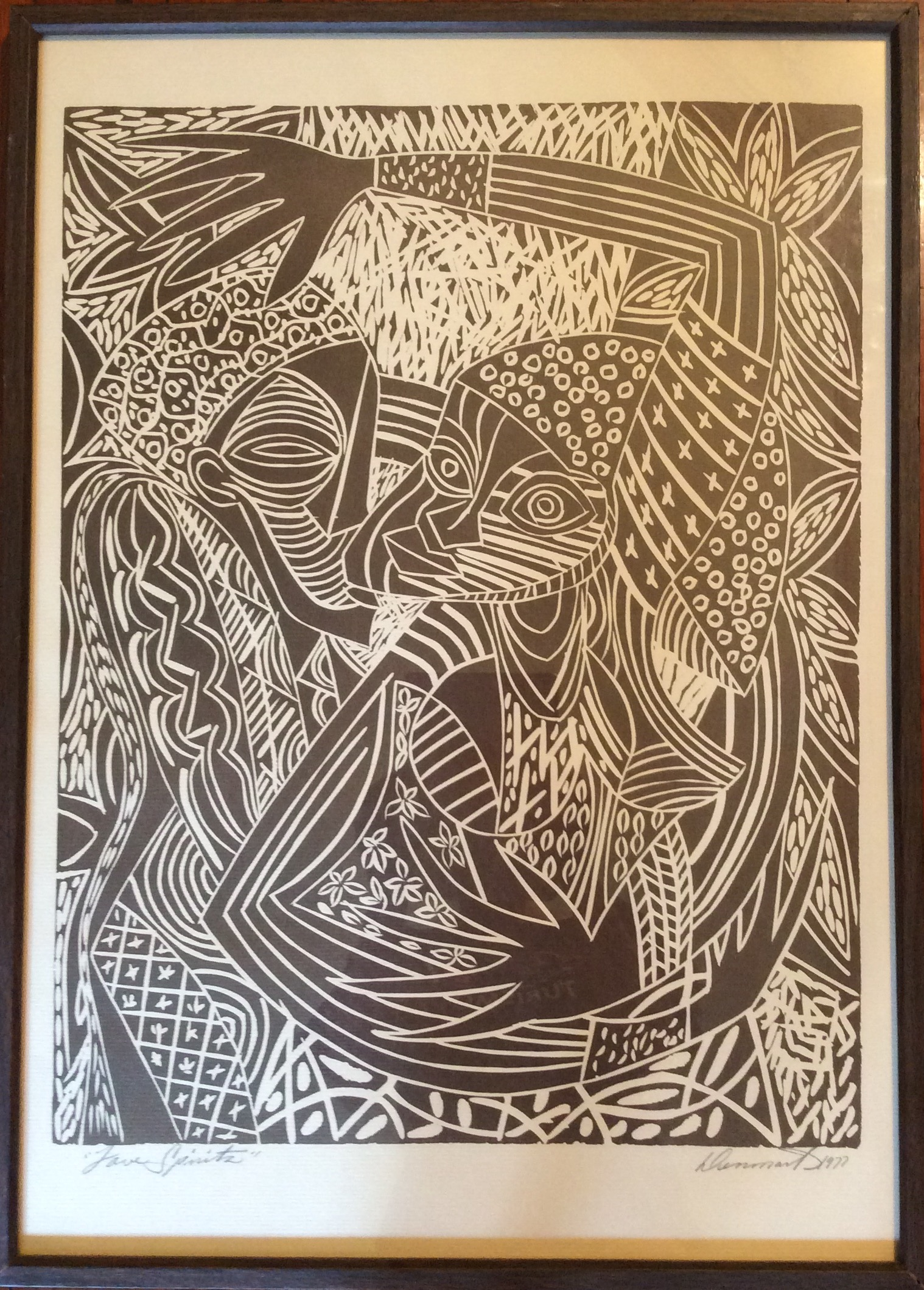 Love Spirits By James Denmark Signed In Pencil The Artist 1977 Print Open Edition
