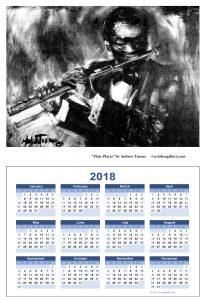 2018 calendar flute turner