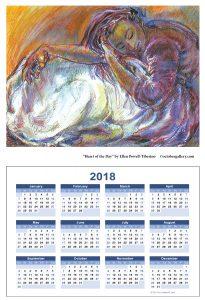 2018 calendar hjeart ellen