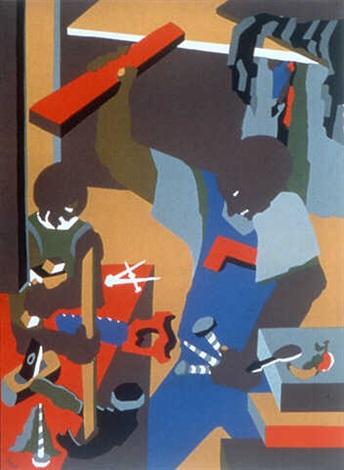 builders iii by jacob lawrence – october gallery