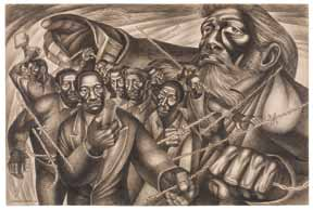 Charles White. Pen and ink drawing (1949)