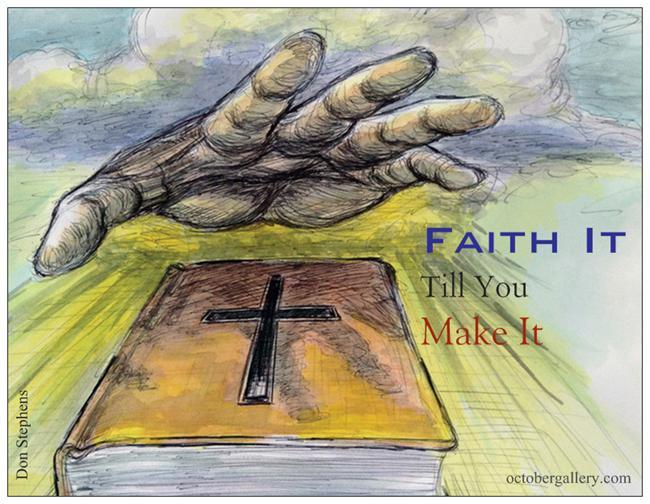 Faith It stephens postcard magnet